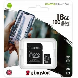 SDHC Class 4 Certified Professional Kingston MicroSDHC 16GB Card for Celkon C 50 3D Phone with custom formatting and Standard SD Adapter. 16 Gigabyte